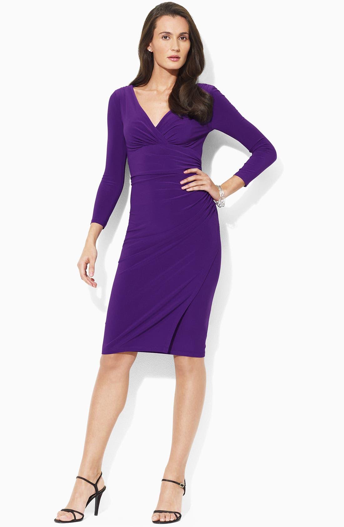 Alternate Image 1 Selected - Lauren Ralph Lauren Matte Jersey Dress