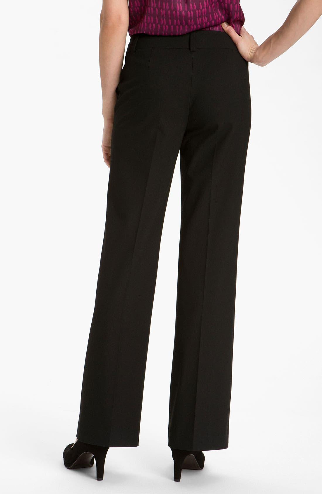 Alternate Image 2  - Halogen® 'Taylor' Curvy Fit Pants