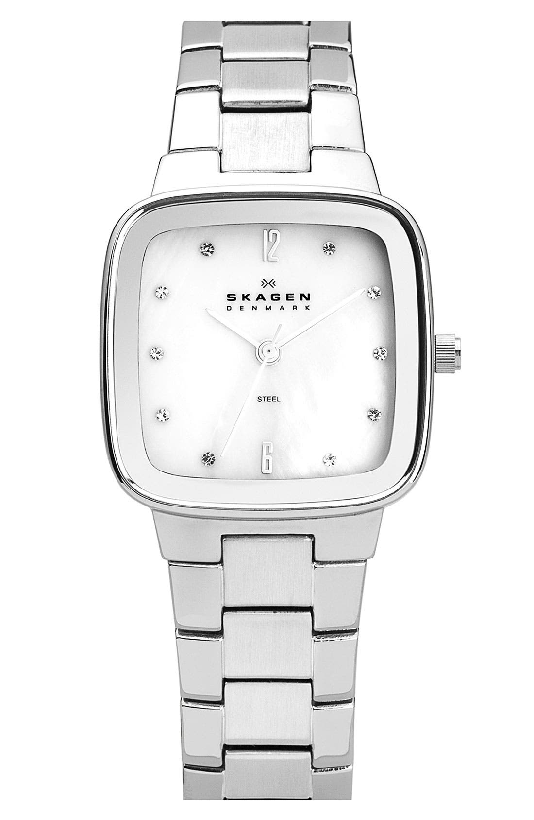 Alternate Image 1 Selected - Skagen Square Bracelet Watch