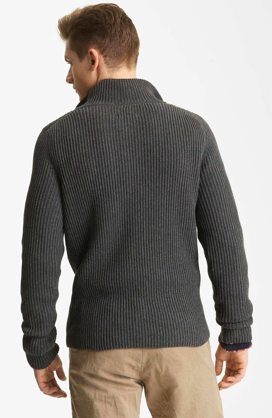 Alternate Image 2  - Billy Reid Ribbed Henley Sweater