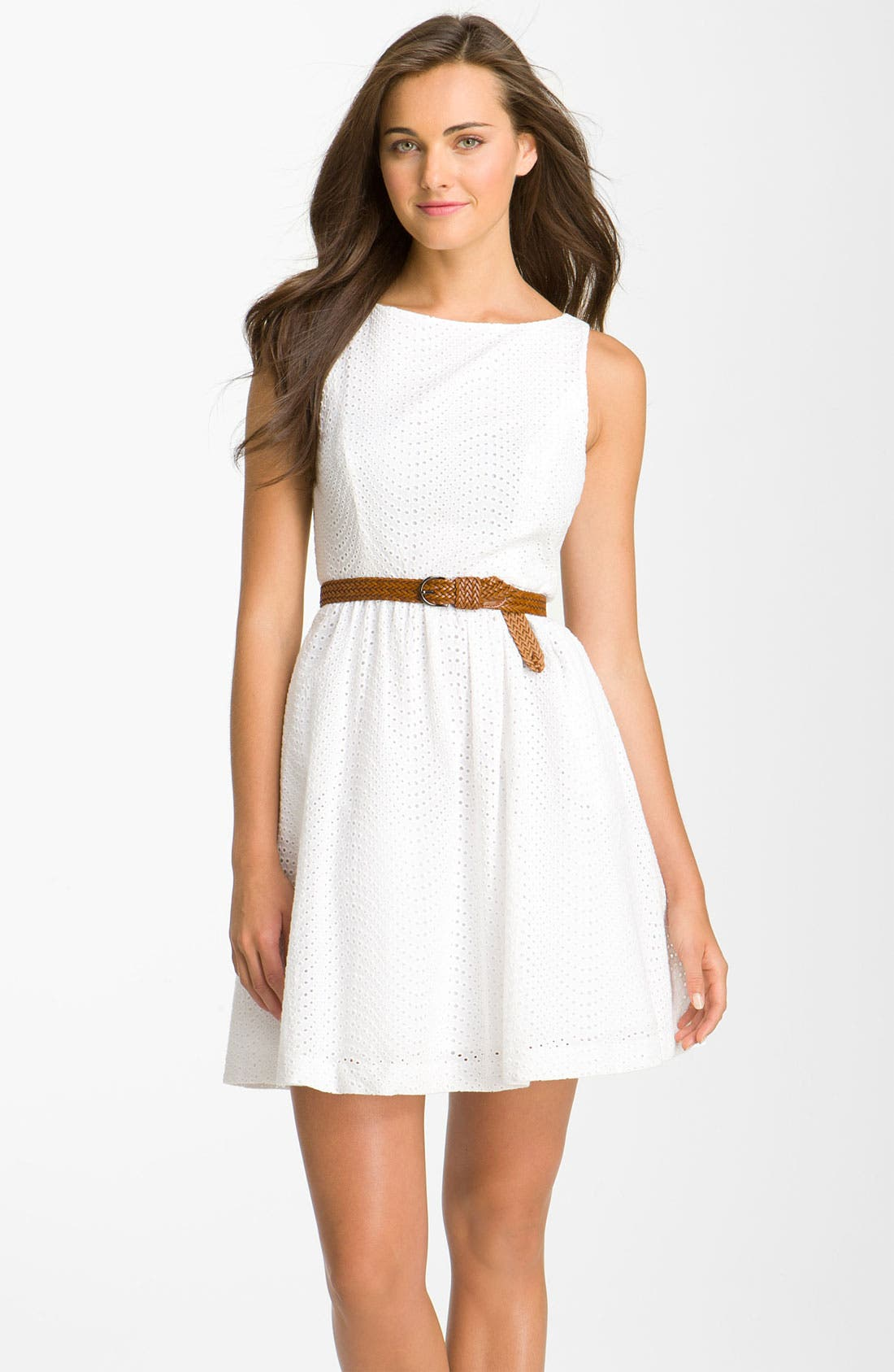 Alternate Image 1 Selected - Jessica Simpson Eyelet Dress