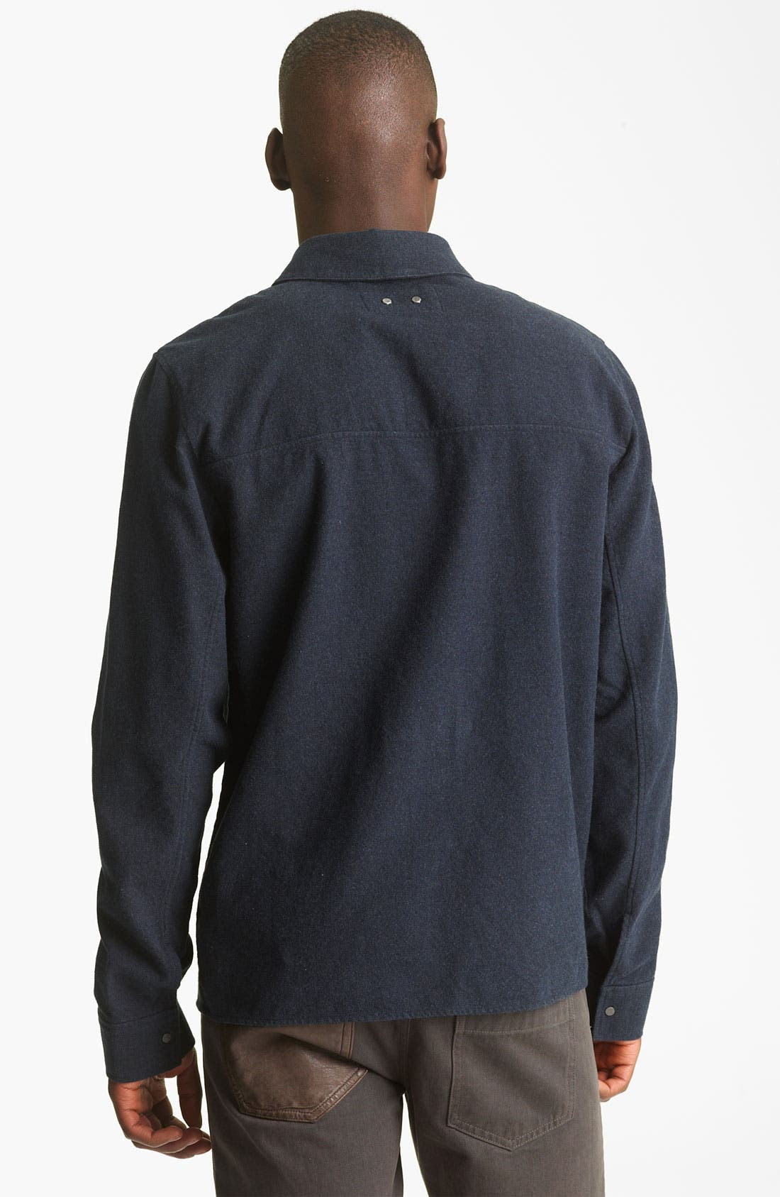Alternate Image 2  - T by Alexander Wang Cotton Flannel Shirt