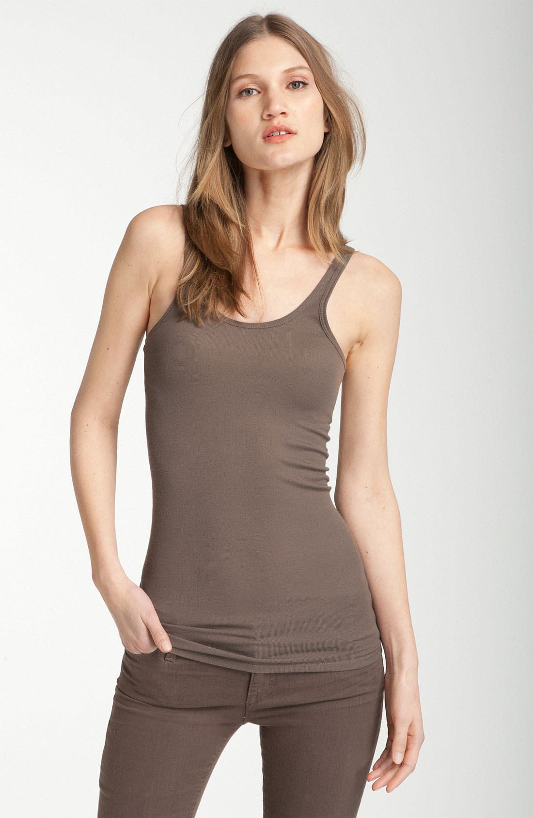 Alternate Image 1 Selected - Vince Ribbed Tank