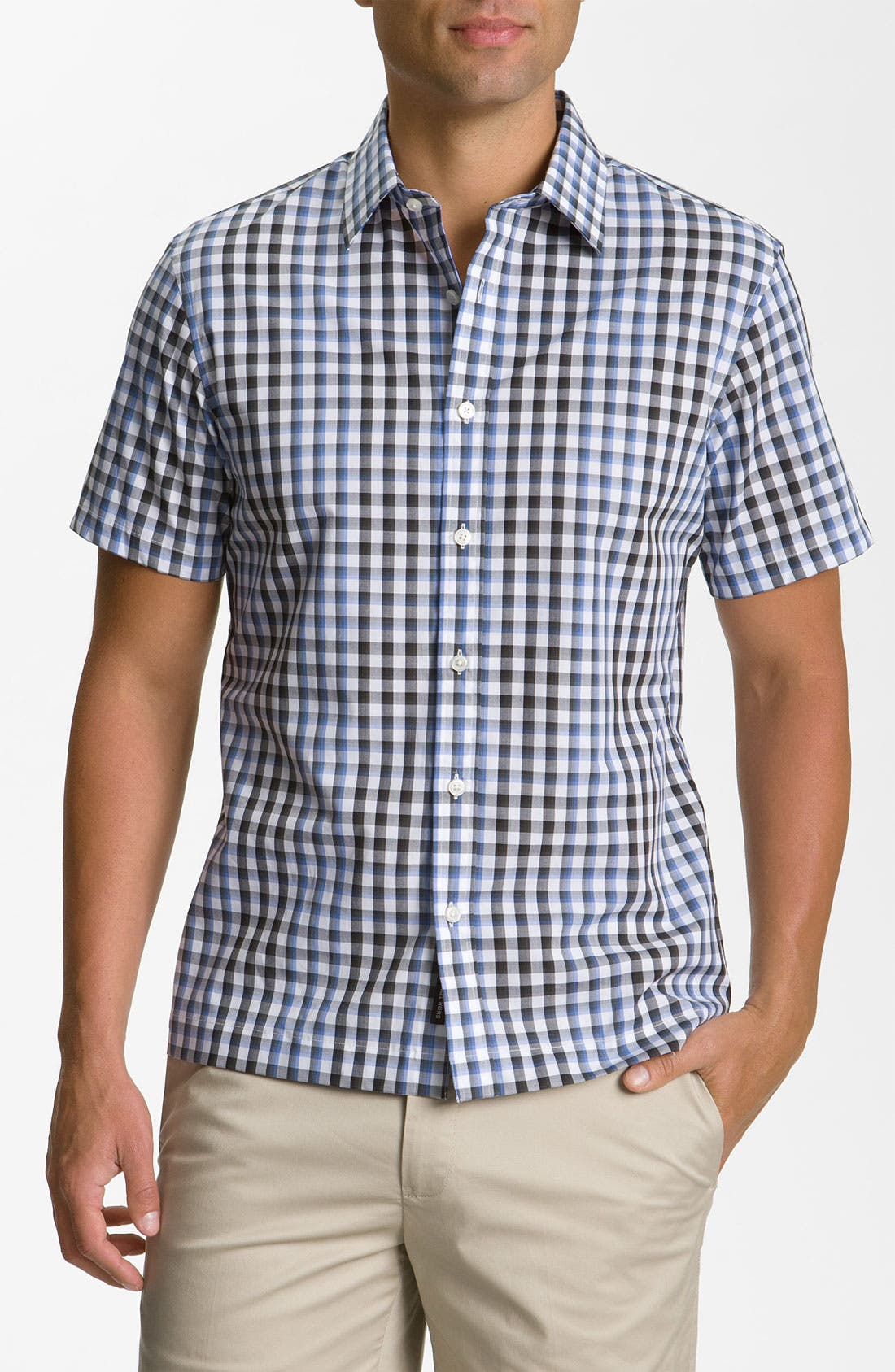 Alternate Image 1 Selected - Michael Kors 'Nils' Check Plaid Woven Shirt