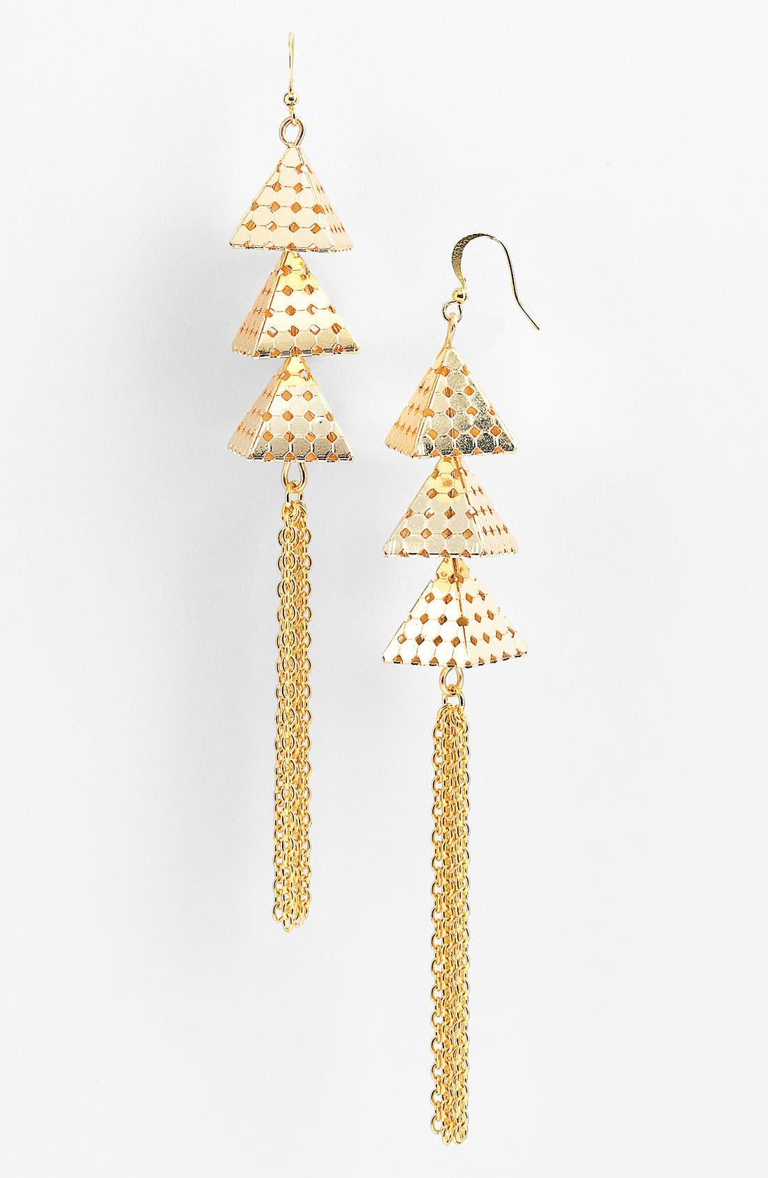 Main Image - Micha Design Pyramid Fringe Earrings