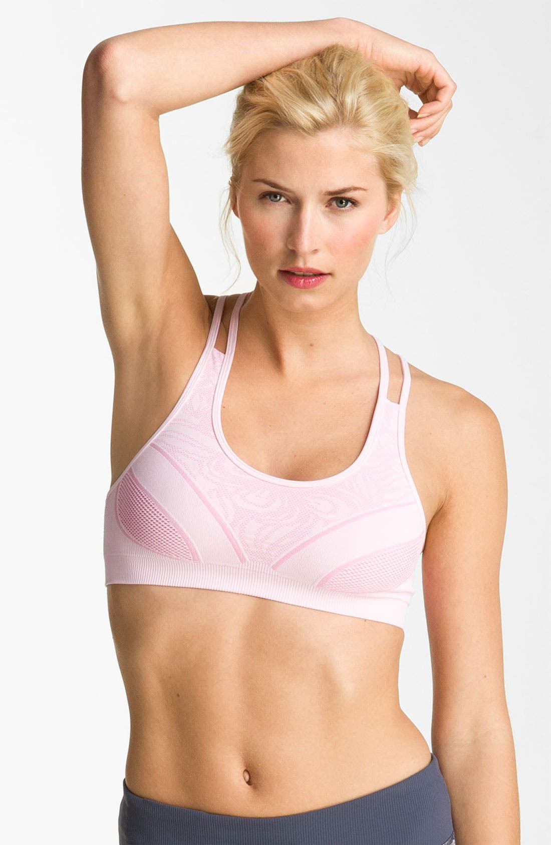 Alternate Image 2  - Zella Seamless Multi Strap Bra