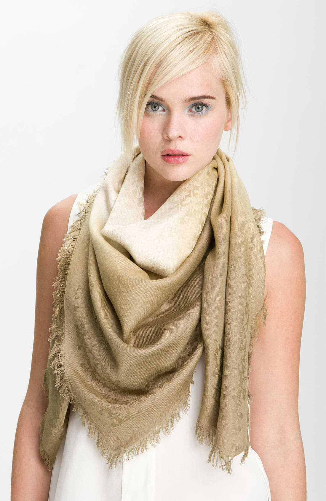 Alternate Image 1 Selected - Tory Burch Logo Jacquard Scarf