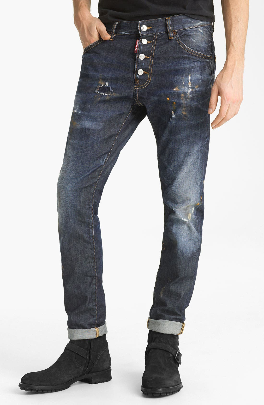 Alternate Image 2  - Dsquared2 'Cool Guy' Slim Straight Jeans (Warm Suede)