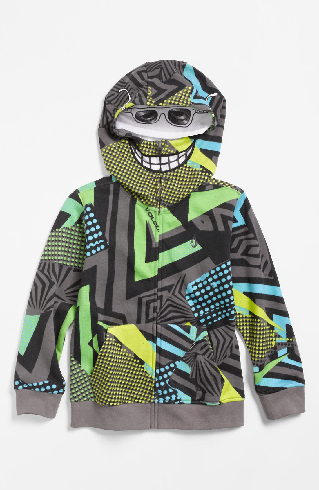 Alternate Image 1 Selected - Volcom 'Magmouth' Mask Hoodie (Little Boys)