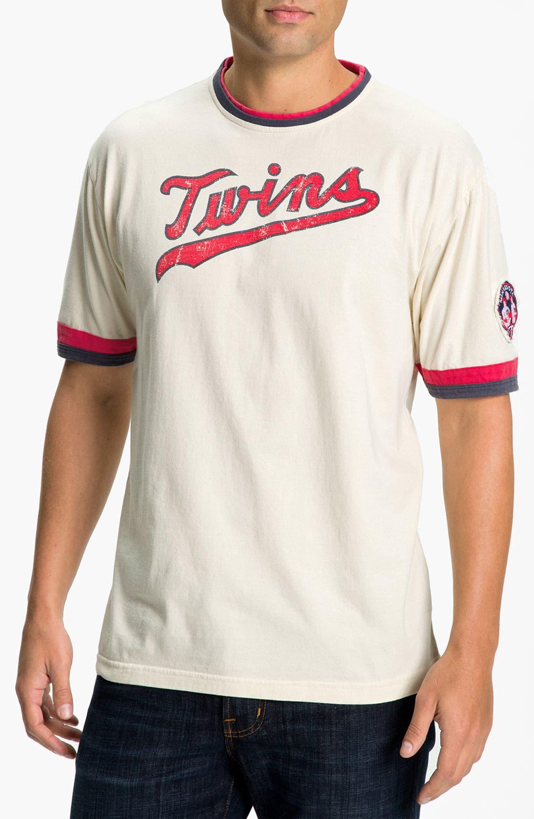 Main Image - Red Jacket 'Minnesota Twins' Trim Fit Crewneck Ringer T-Shirt (Men)