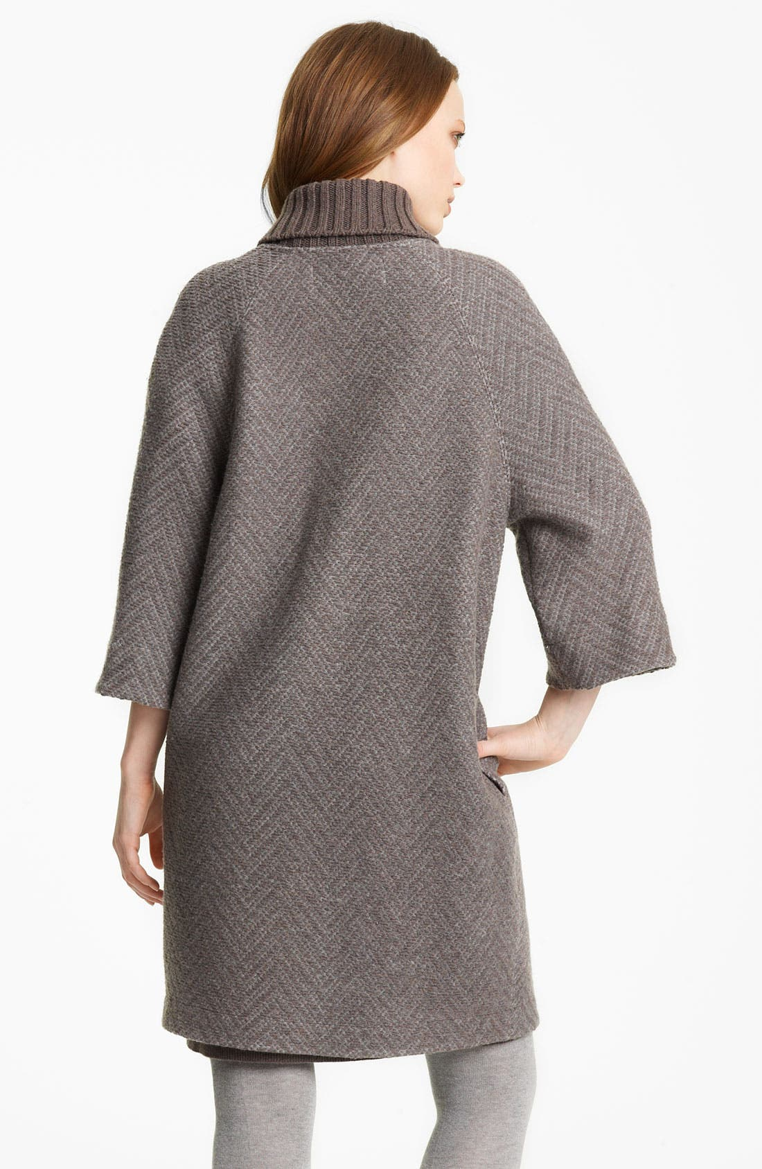 Alternate Image 2  - Fabiana Filippi Knit Collar Coat