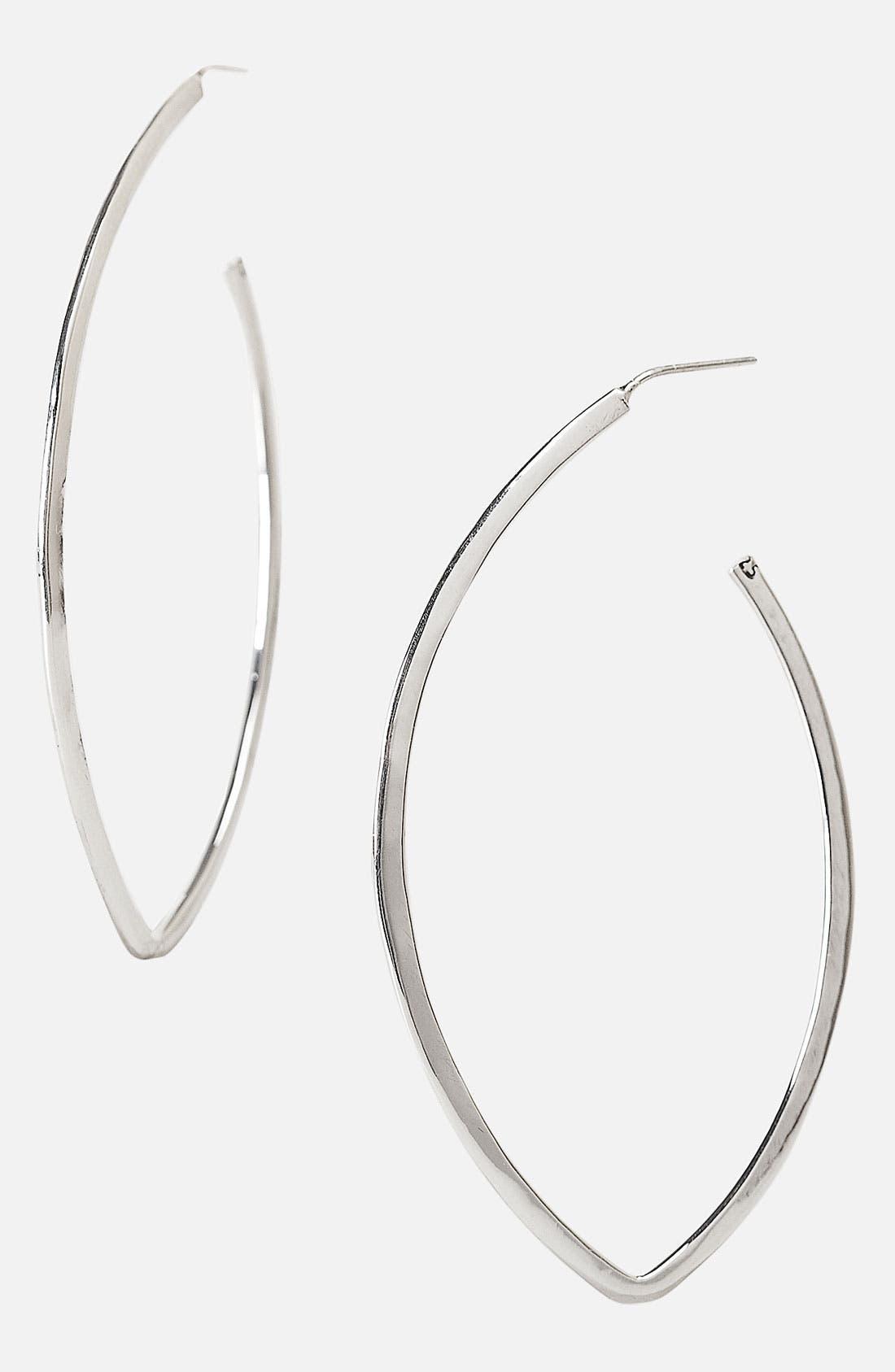 Alternate Image 1 Selected - Argento Vivo Thin Hoop Earrings (Nordstrom Exclusive)