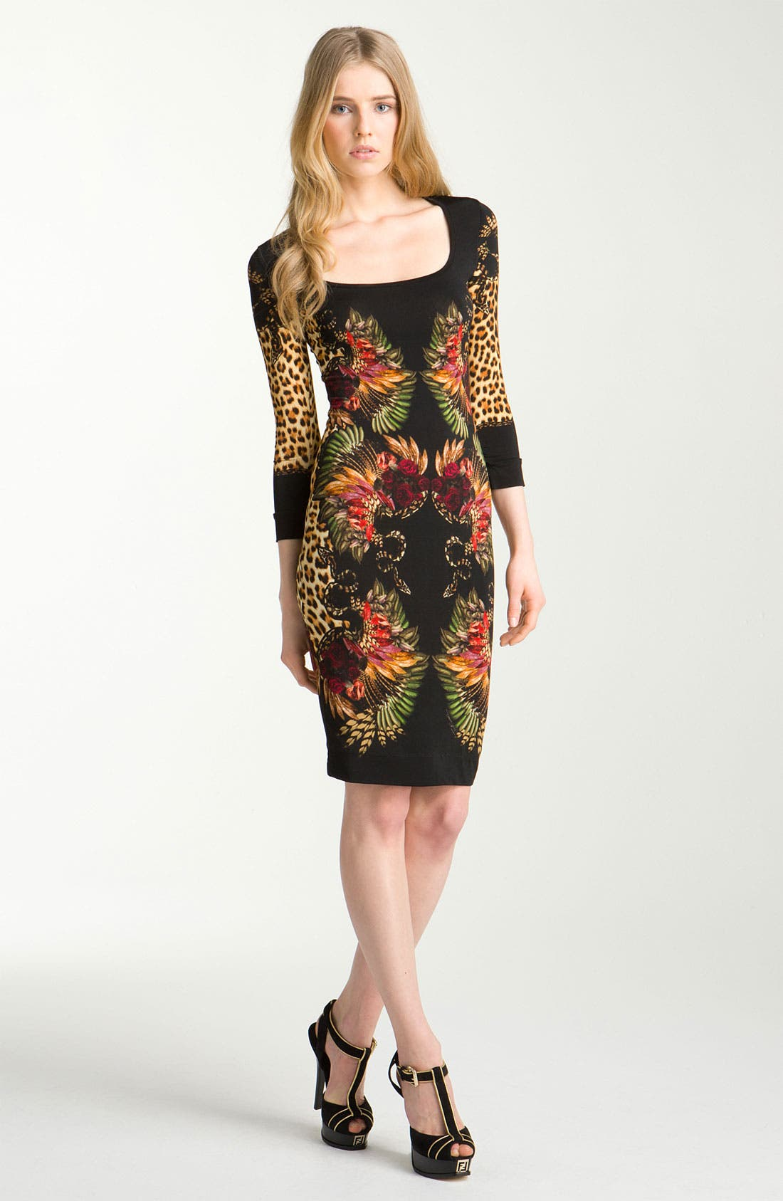Main Image - Just Cavalli Print Jersey Dress