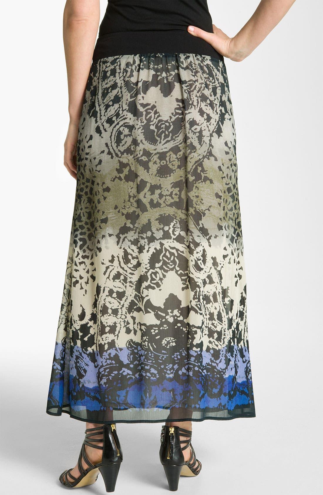 Alternate Image 2  - Nic + Zoe Ombré Print Maxi Skirt