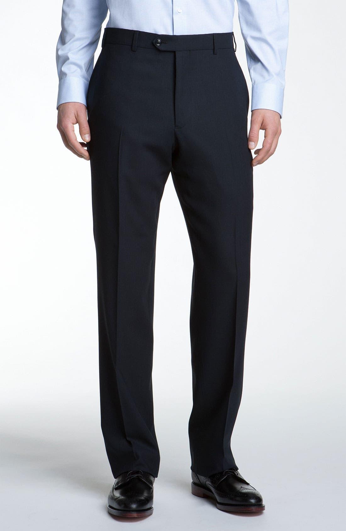 Alternate Image 4  - Armani Collezioni Trim Fit Wool Suit