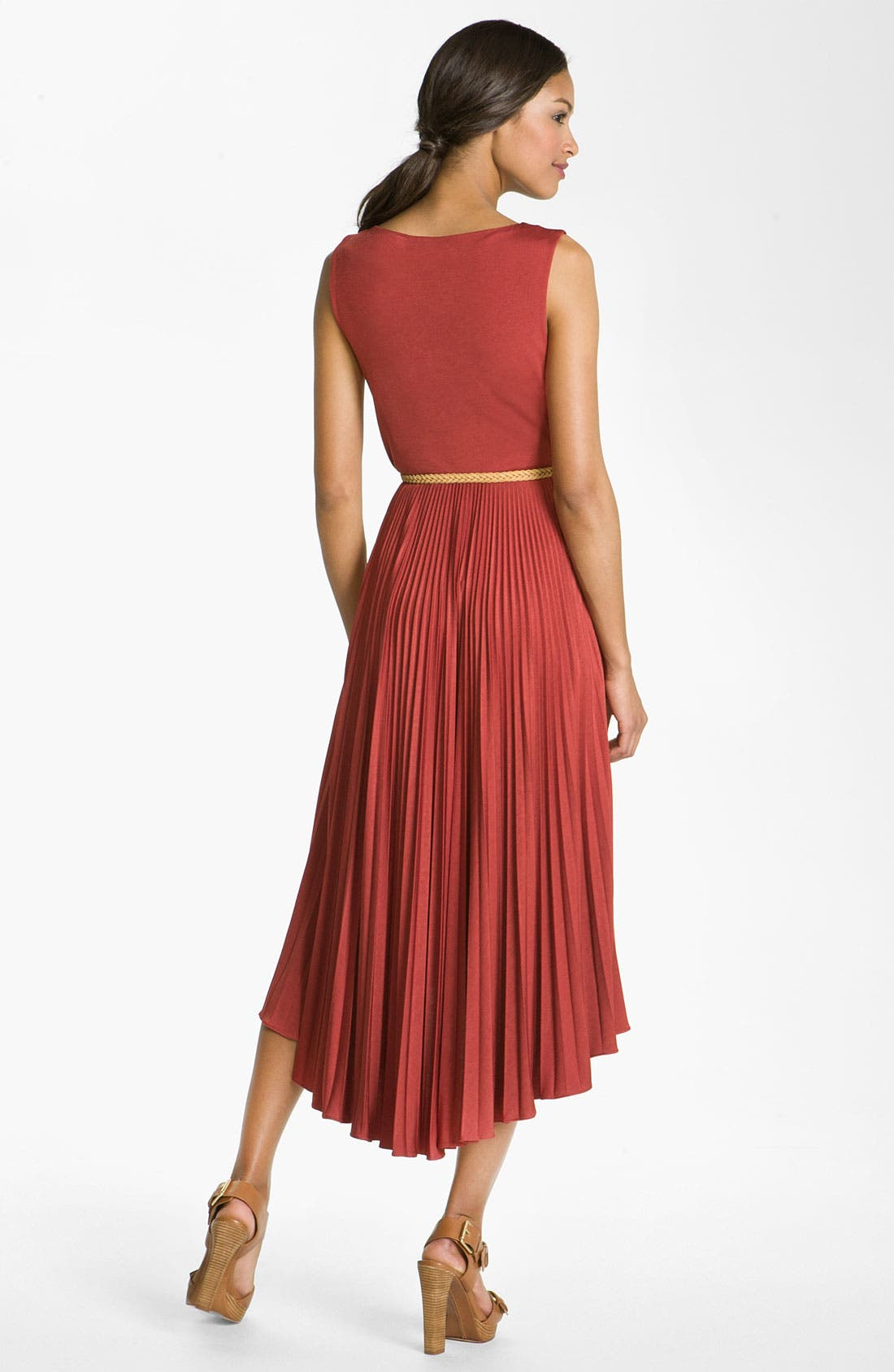 Alternate Image 2  - Suzi Chin for Maggy Boutique Pleated Jersey Dress