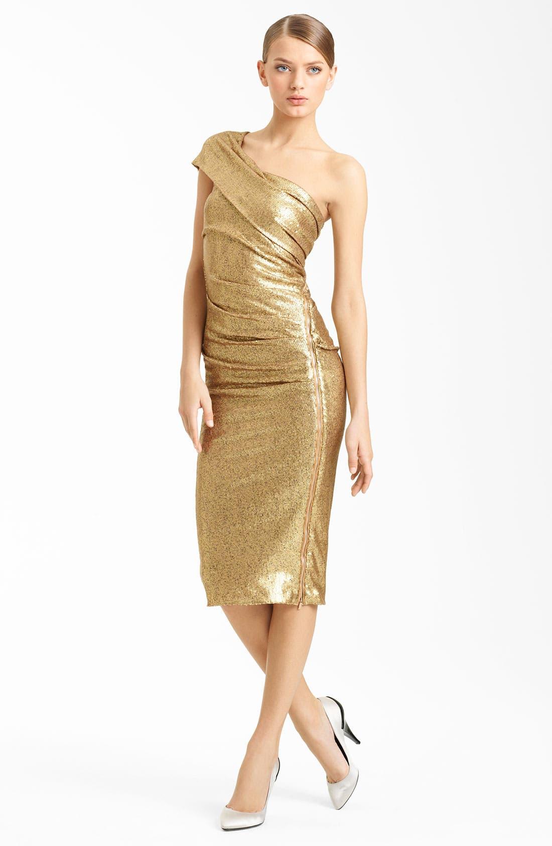 Main Image - Donna Karan Collection One Shoulder Sequin Dress