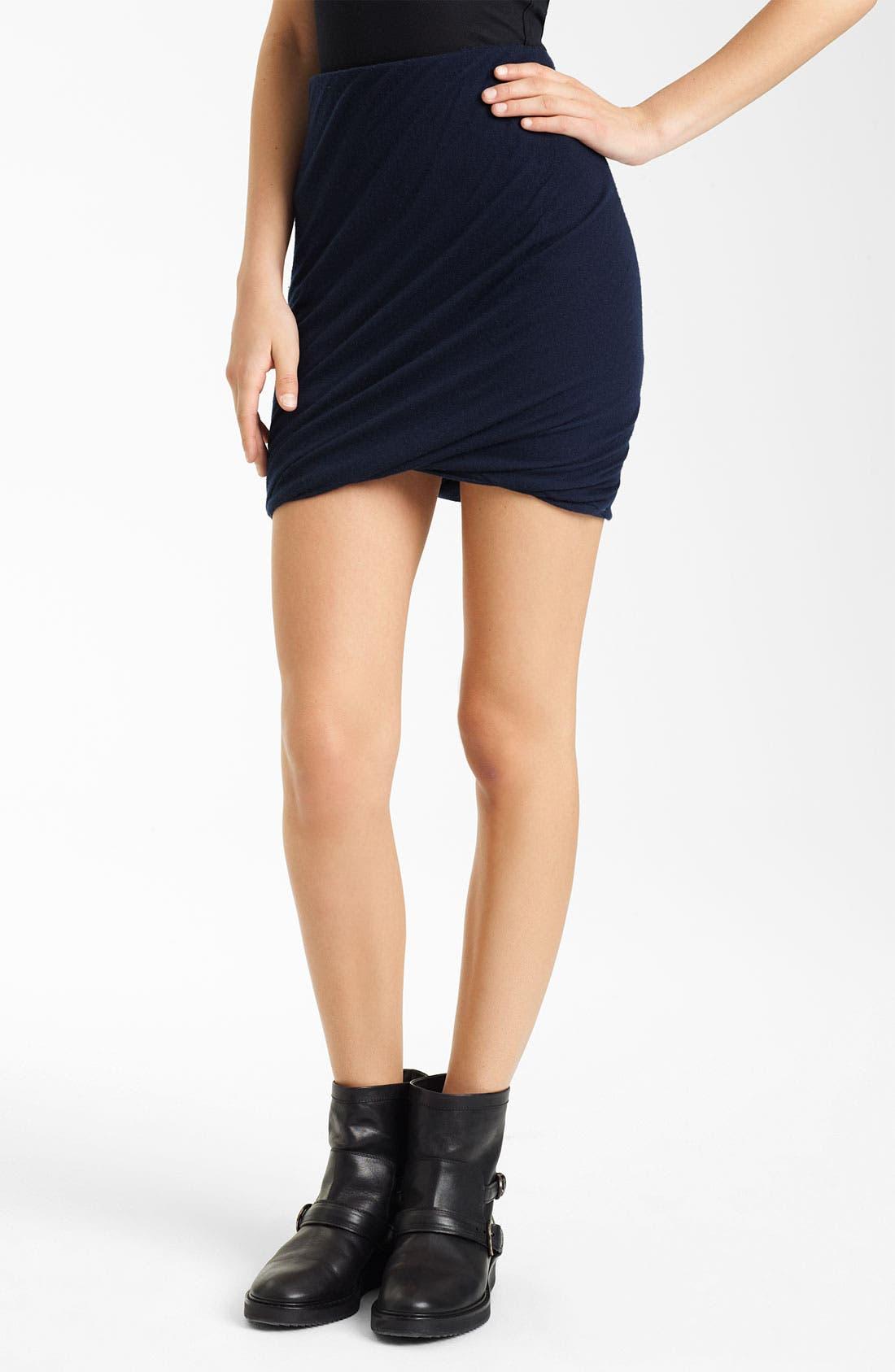 Main Image - Donna Karan Collection Twisted Cashmere Miniskirt