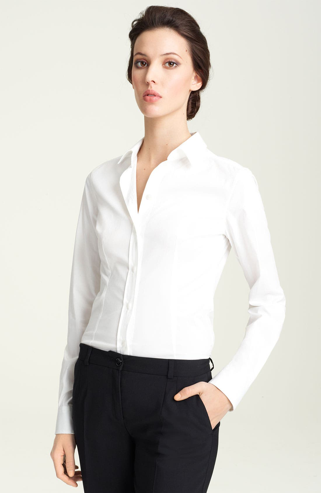 Alternate Image 1 Selected - Dolce&Gabbana Stretch Cotton Shirt
