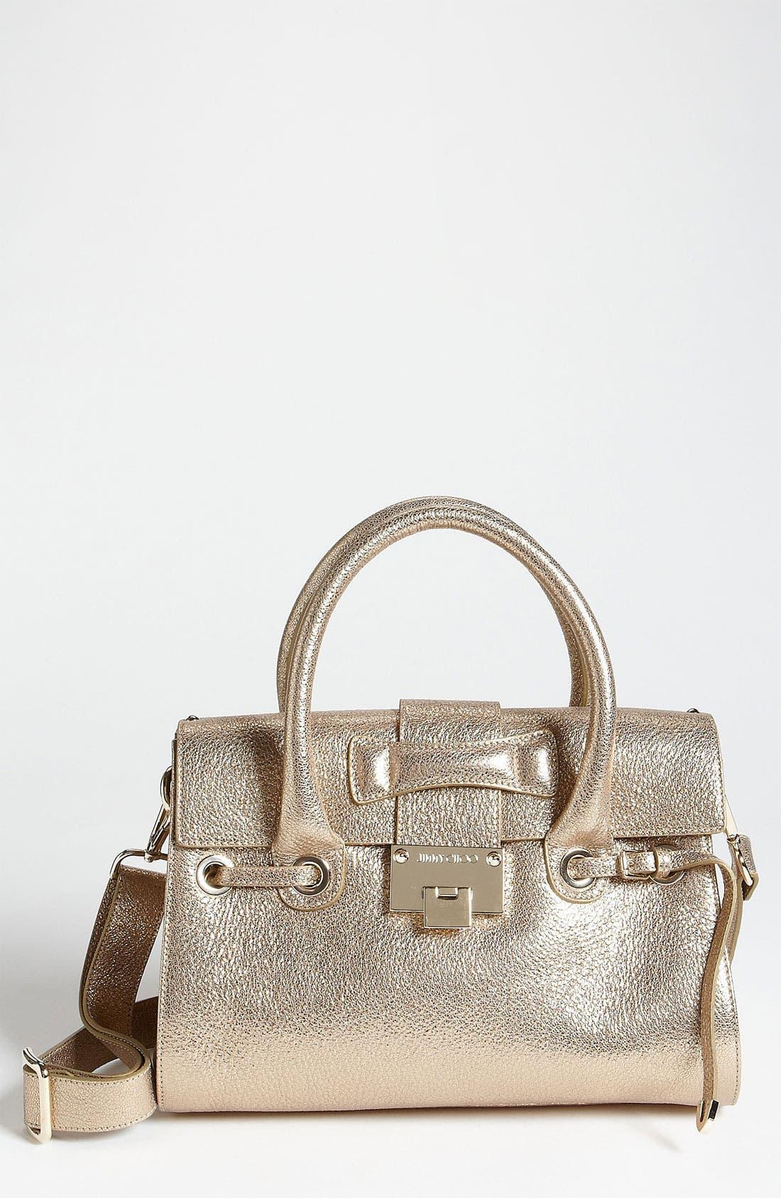 Main Image - Jimmy Choo 'Rosalie' Glitter Leather Satchel