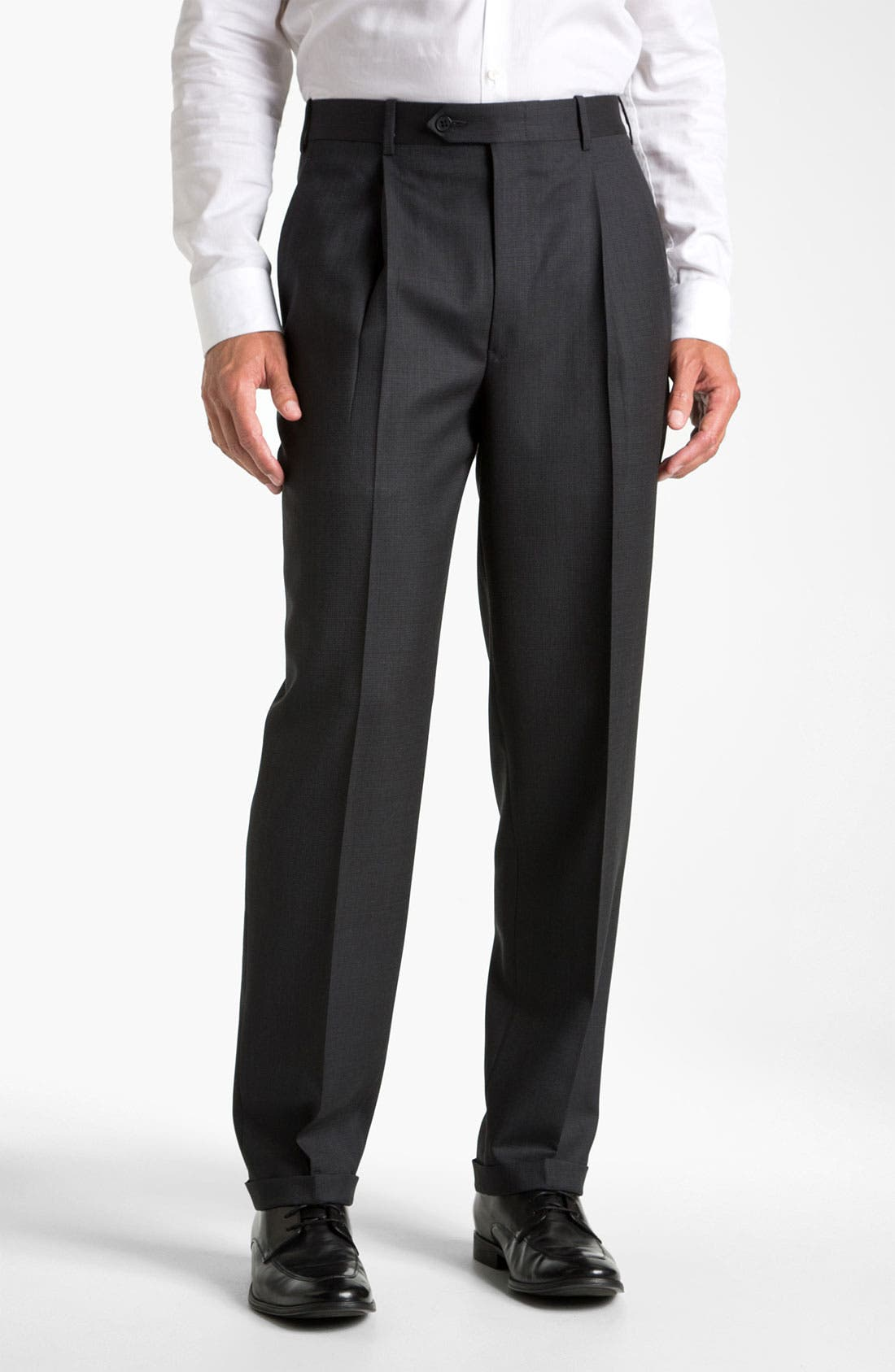 Alternate Image 1 Selected - JB Britches Single Pleat Trousers