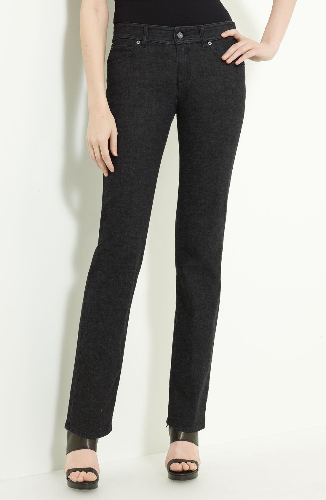 Alternate Image 1 Selected - Armani Collezioni Cashmere Stretch Denim Jeans