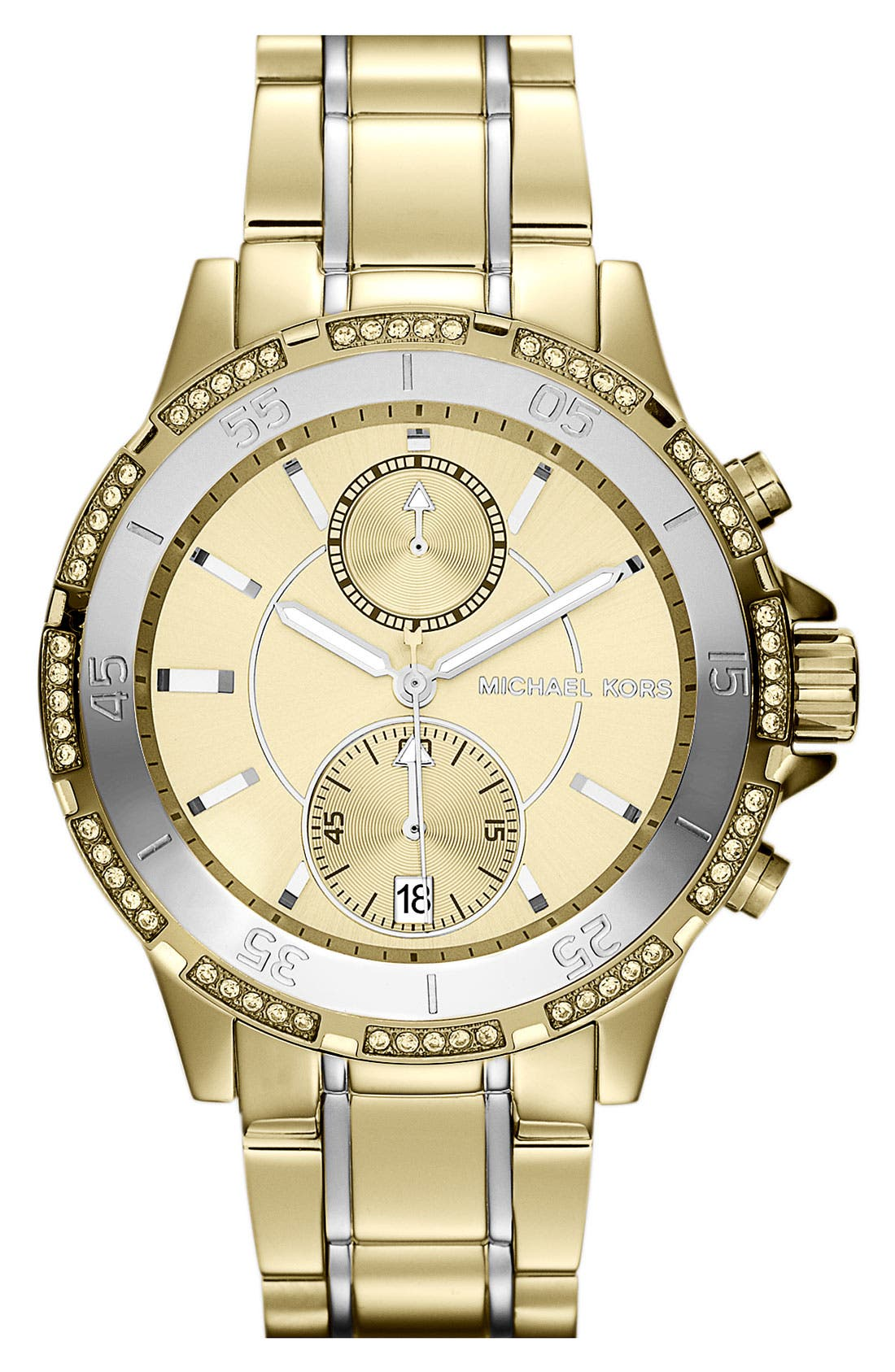 Main Image - Michael Kors 'Garret' Chronograph & Crystal Watch