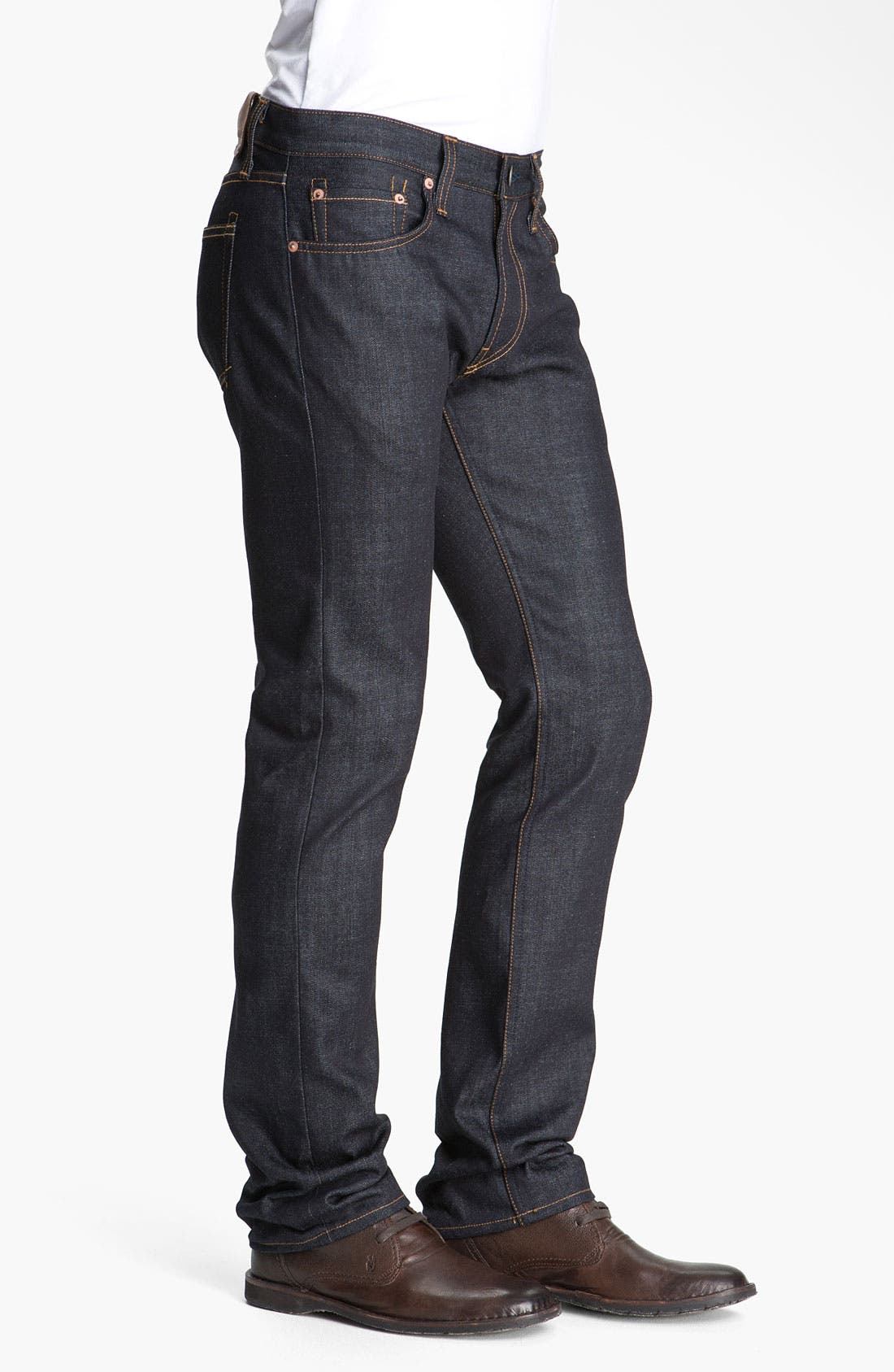 Alternate Image 3  - J Brand Kane Slim Straight Leg Jeans (Raw)