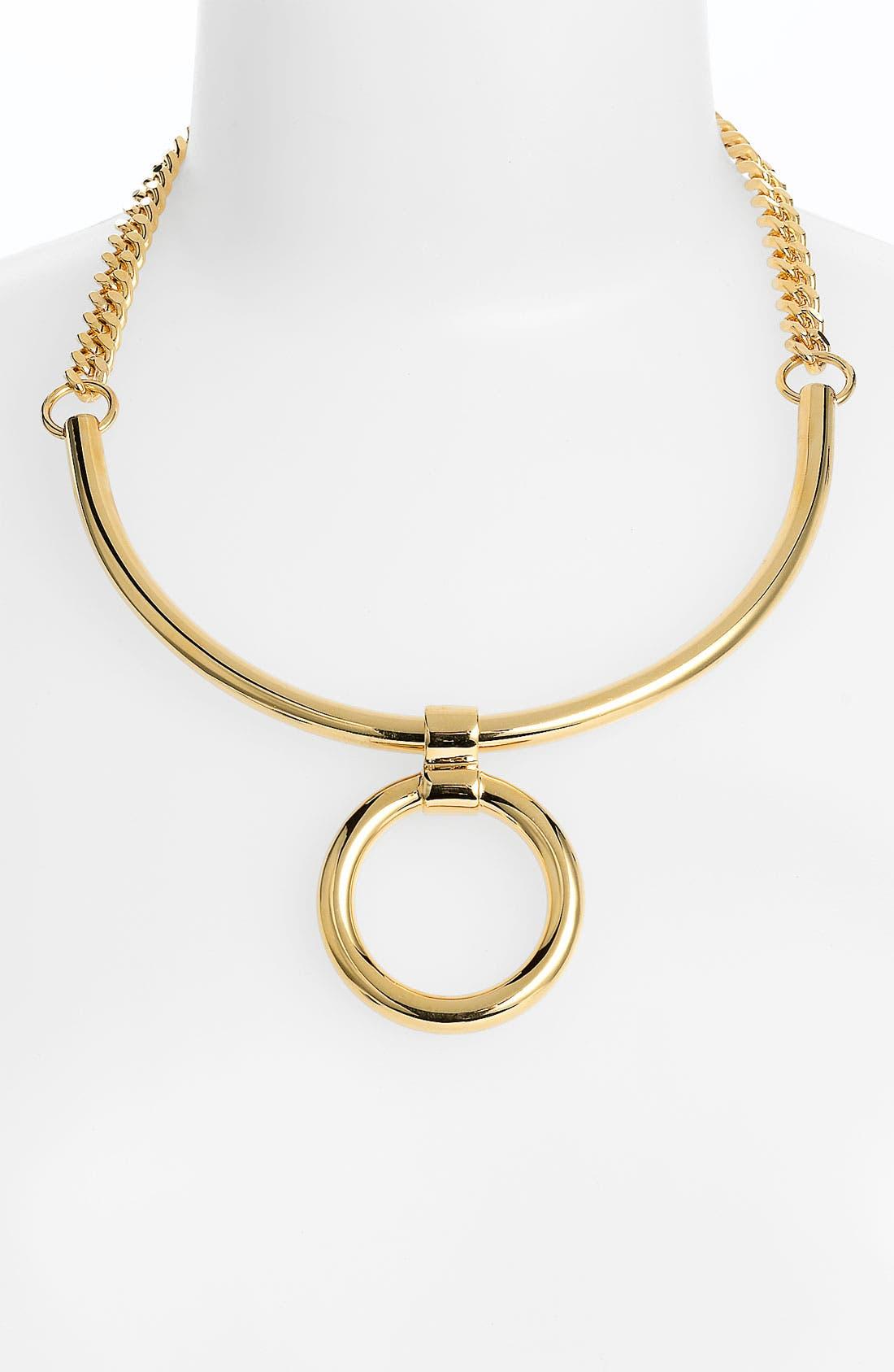 Main Image - Tory Burch Circle Pendant Necklace