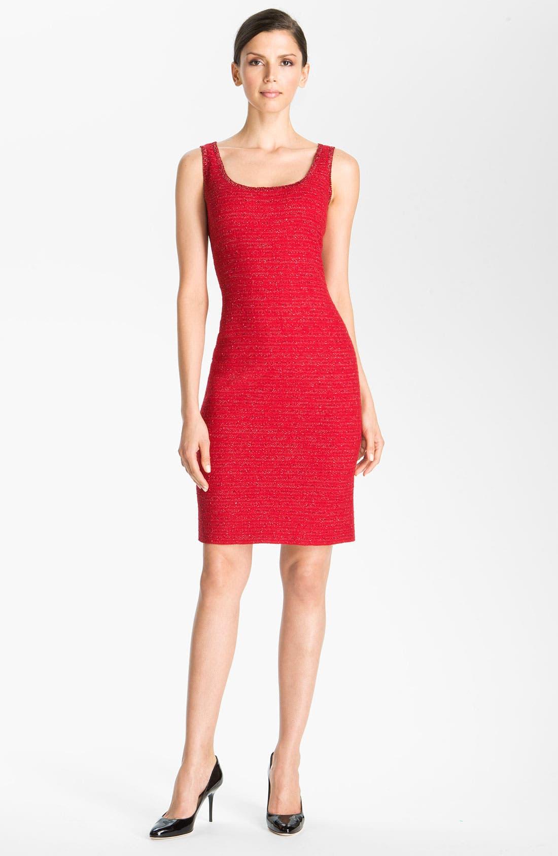 Main Image - St. John Collection Ruby Tweed Sheath Dress