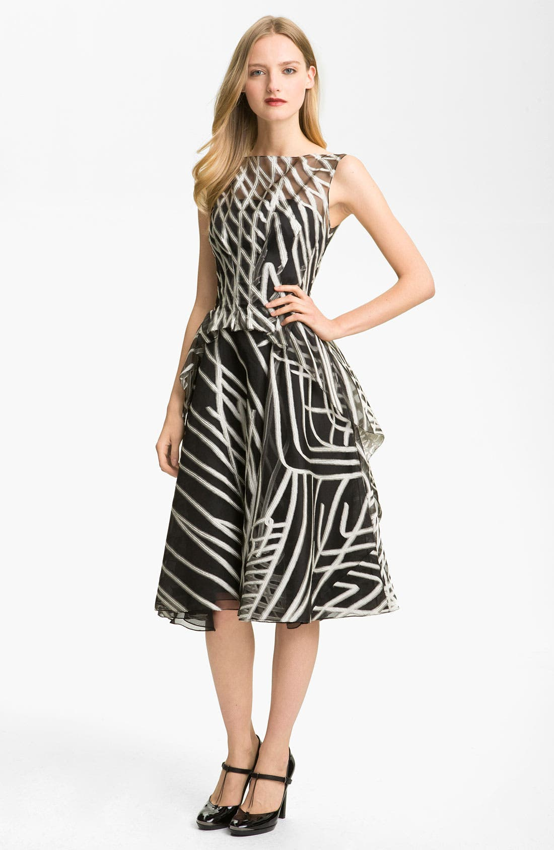 Alternate Image 1 Selected - Lela Rose Layered Organza Dress