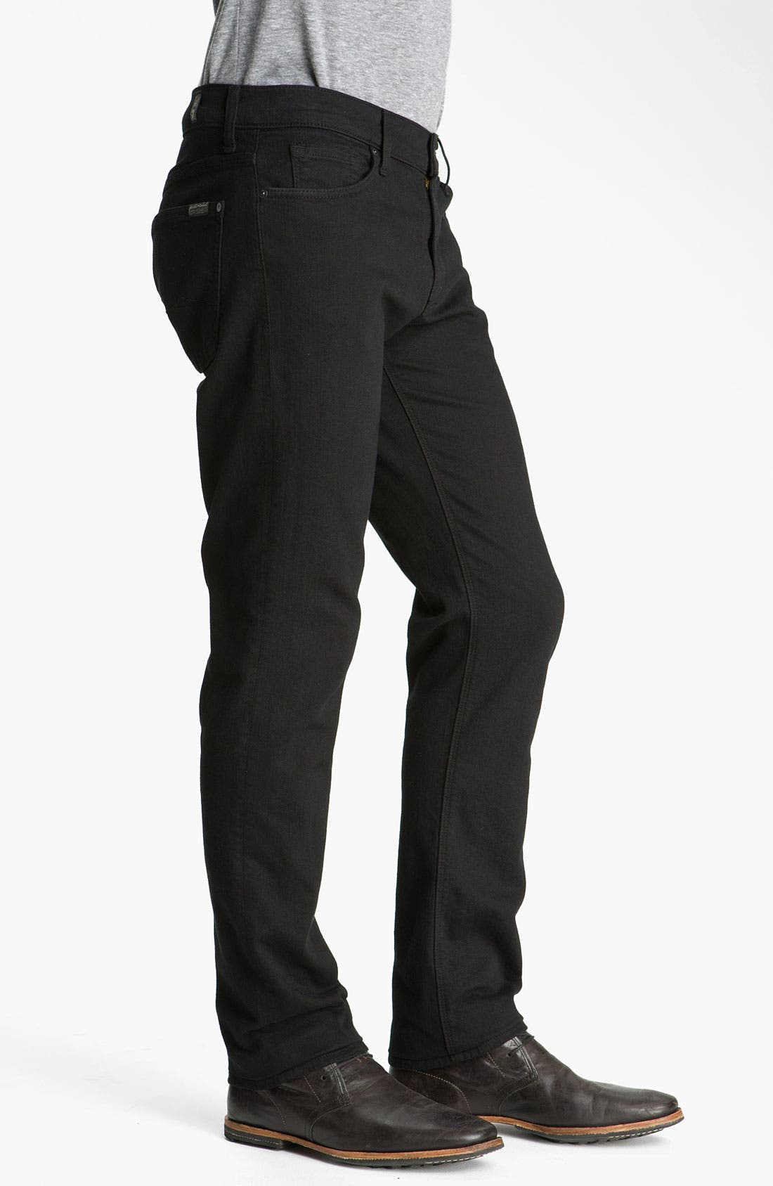 Alternate Image 3  - 7 For All Mankind® 'Slimmy' Slim Fit Jeans (Black Out)