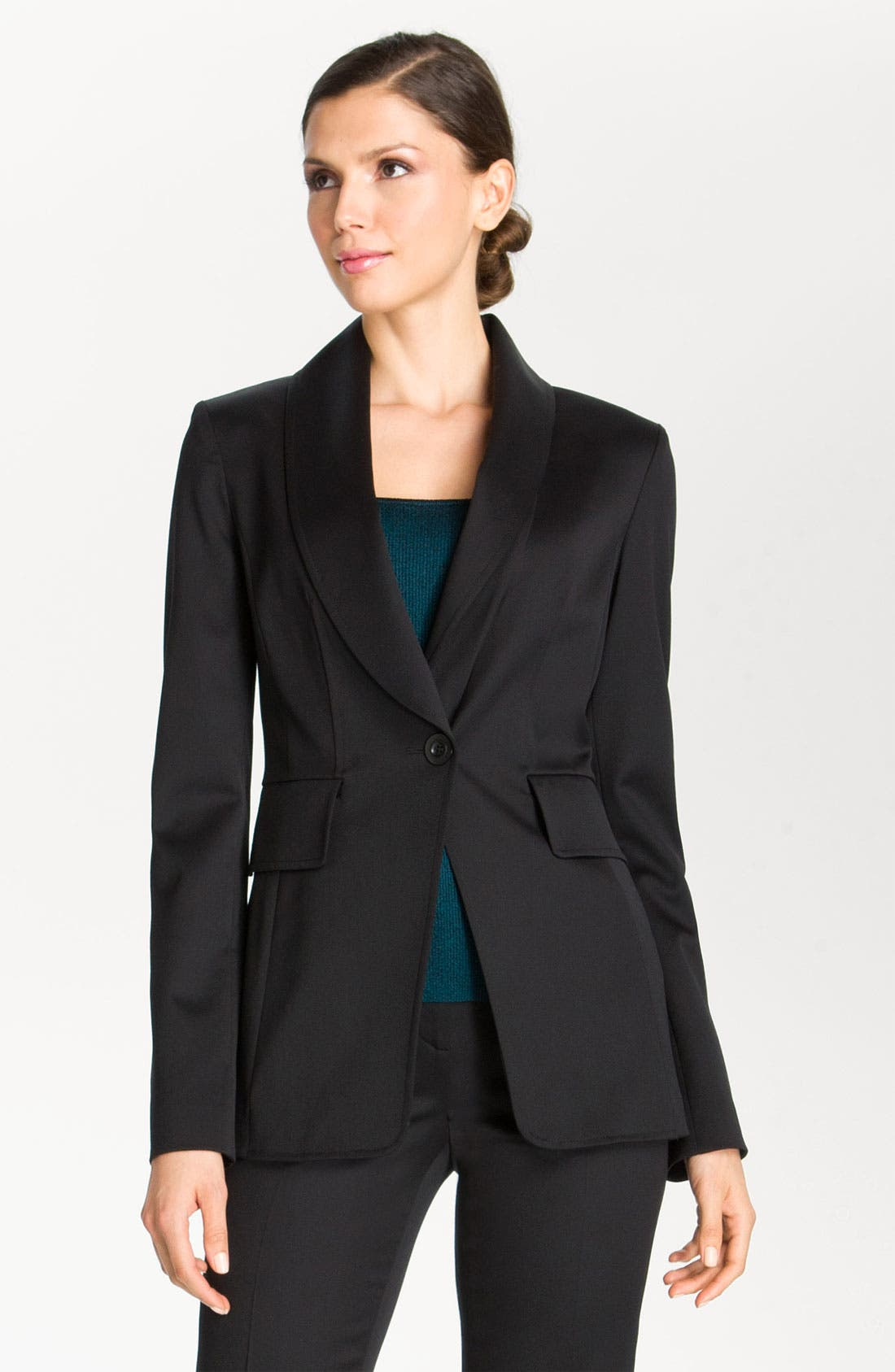 Alternate Image 2  - St. John Collection Wool Venetian Fitted Blazer