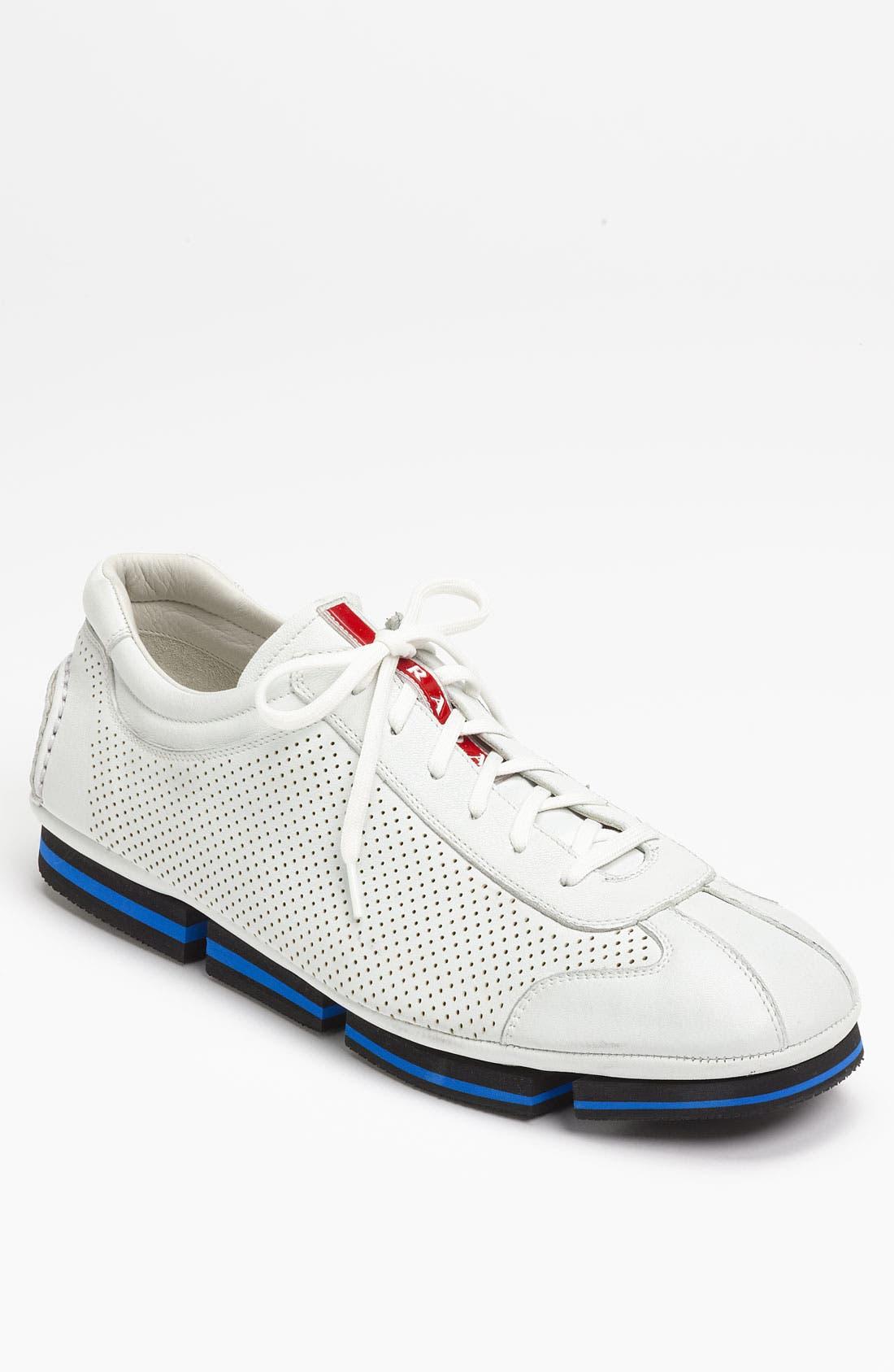Alternate Image 1 Selected - Prada Perforated Sneaker
