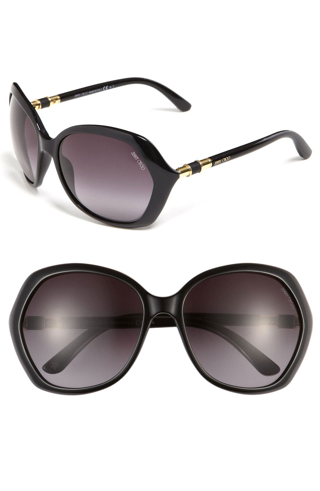 Alternate Image 1 Selected - Jimmy Choo 'Justine' Oversized Sunglasses