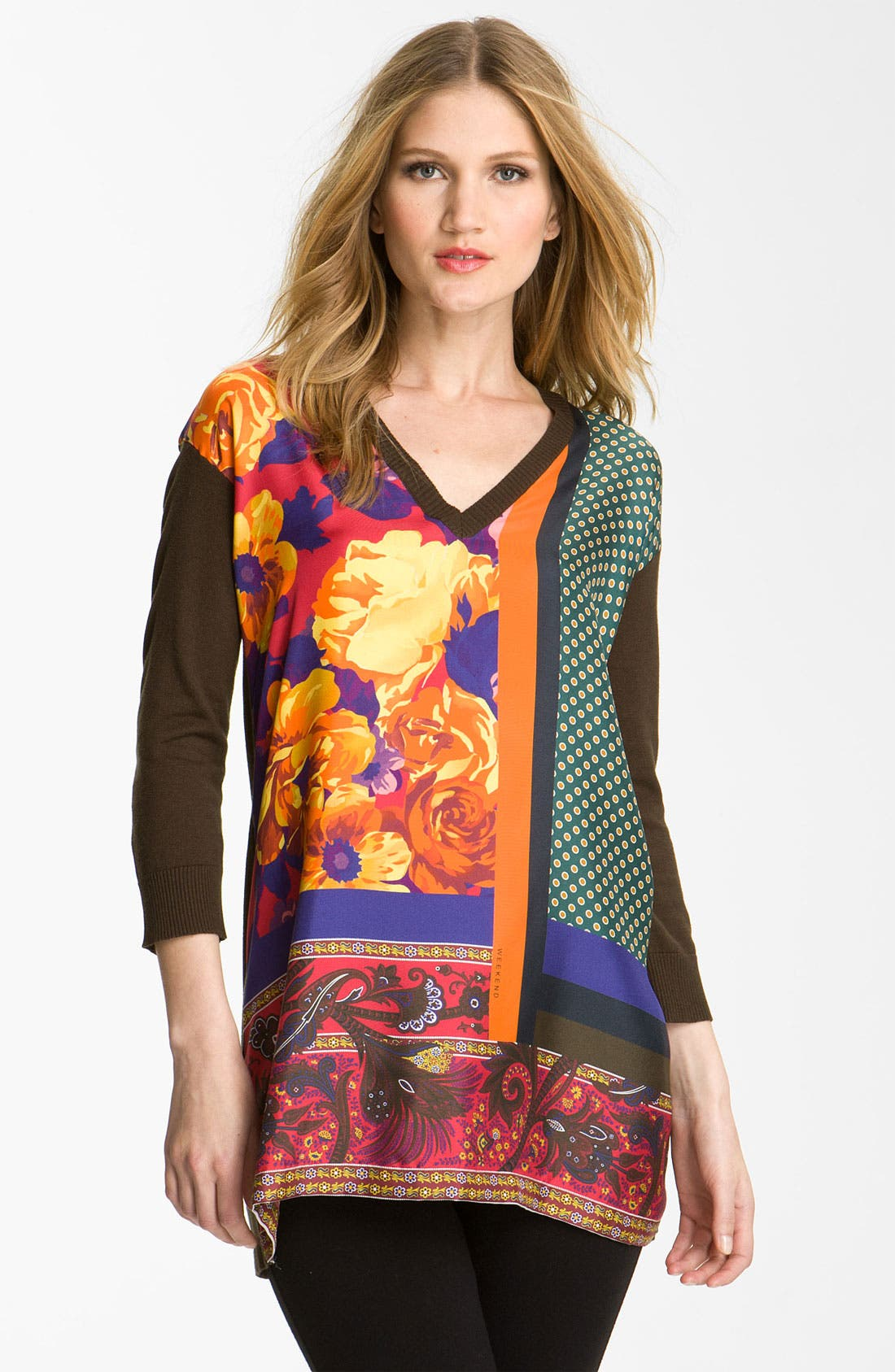Alternate Image 1 Selected - Weekend Max Mara 'Betty' Mixed Media Tunic Sweater