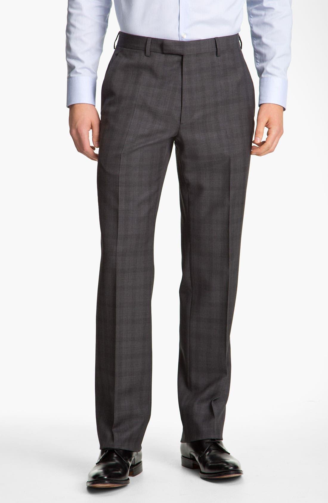 Alternate Image 4  - John Varvatos Star USA 'Chester' Plaid Three Piece Suit