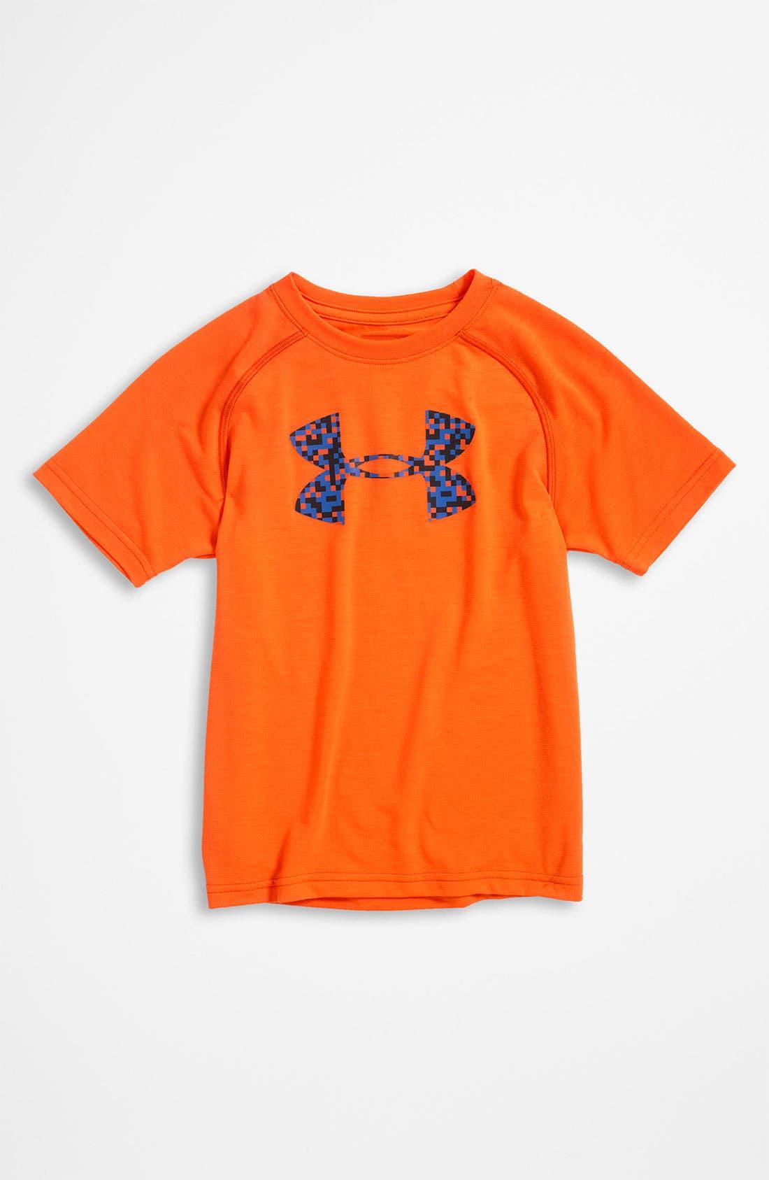Alternate Image 1 Selected - Under Armour 'Big Logo Tech' T-Shirt (Little Boys)