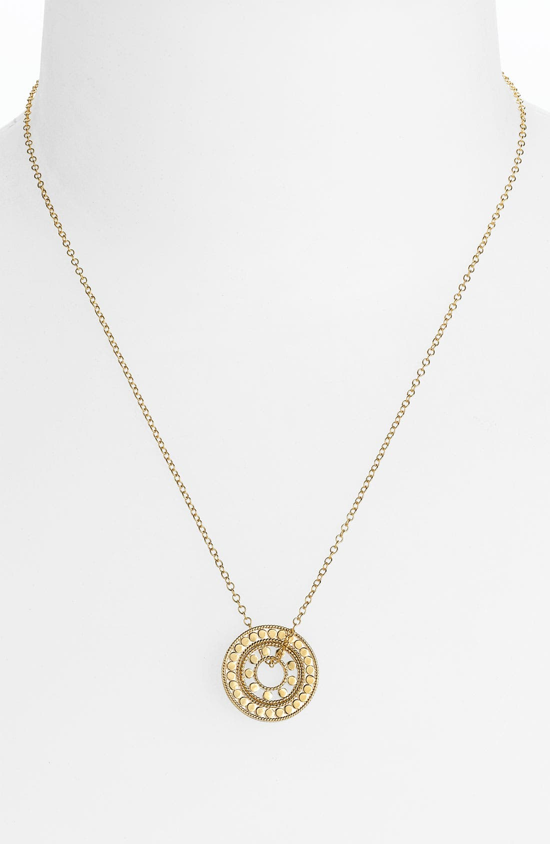 Alternate Image 1 Selected - Anna Beck 'Lombok' Double Circle Pendant Necklace