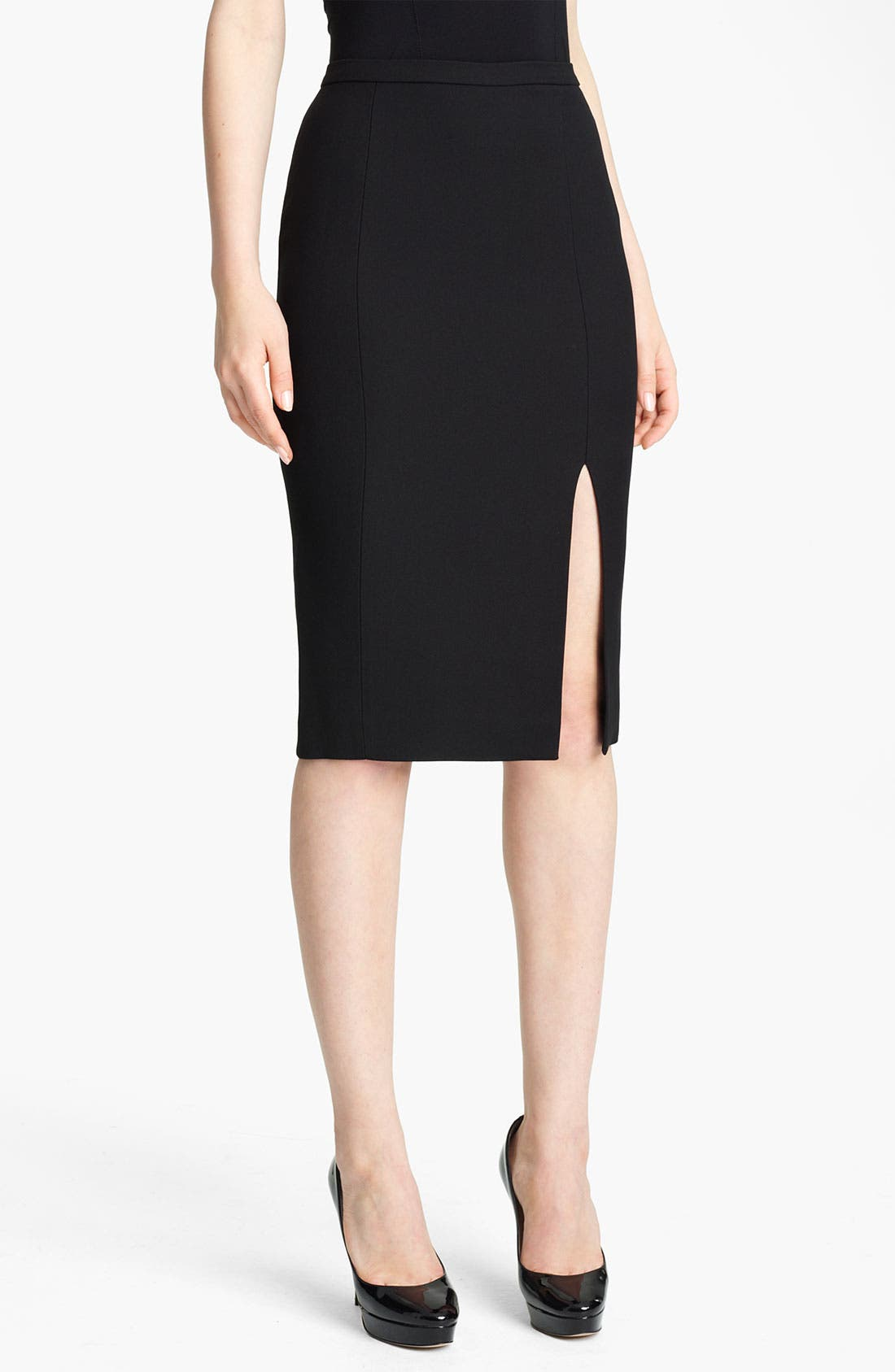 Main Image - Emilio Pucci Wool & Silk Pencil Skirt