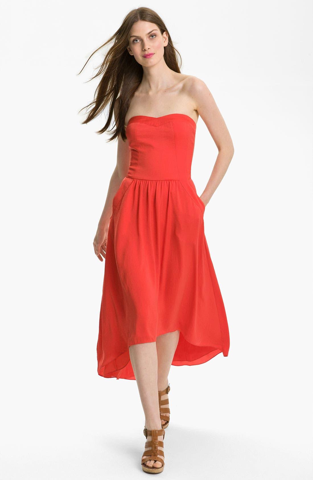 Alternate Image 1 Selected - Rebecca Taylor Strapless Dress