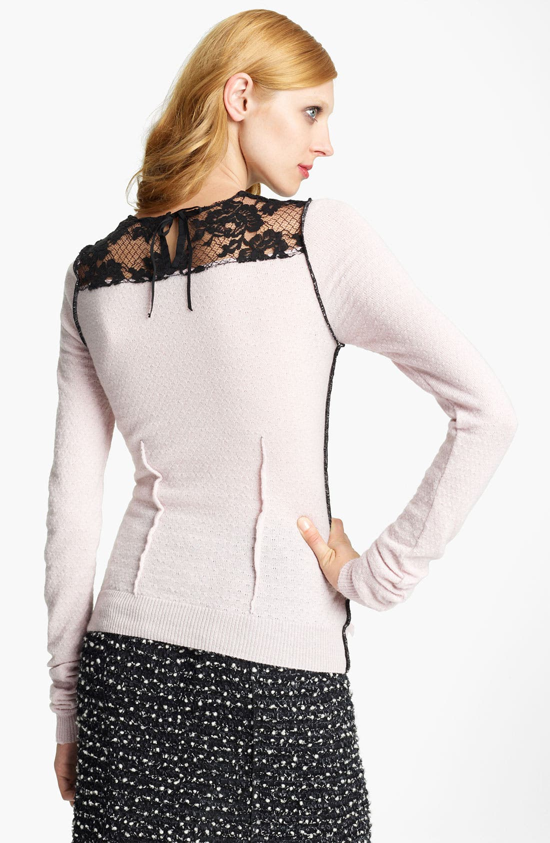 Alternate Image 2  - Nina Ricci Lace Inset Knit Top