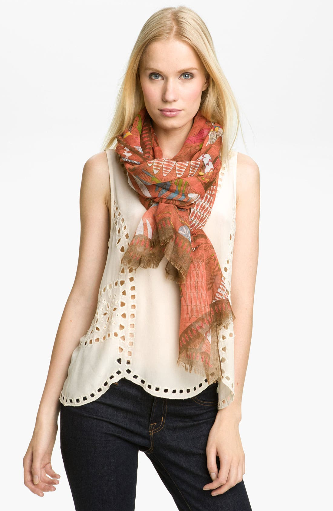 Main Image - Accessory Street 'Tropical Birds' Scarf