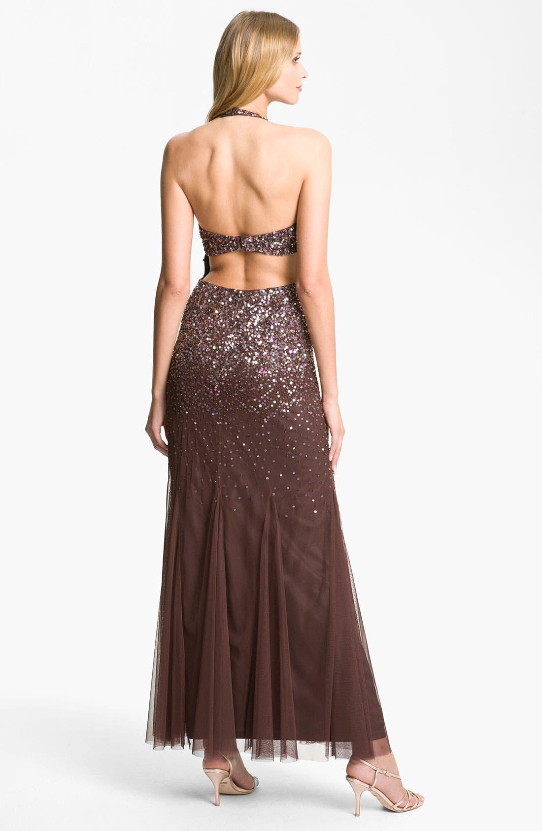 Alternate Image 2  - Guilia Embellished Mesh Halter Gown