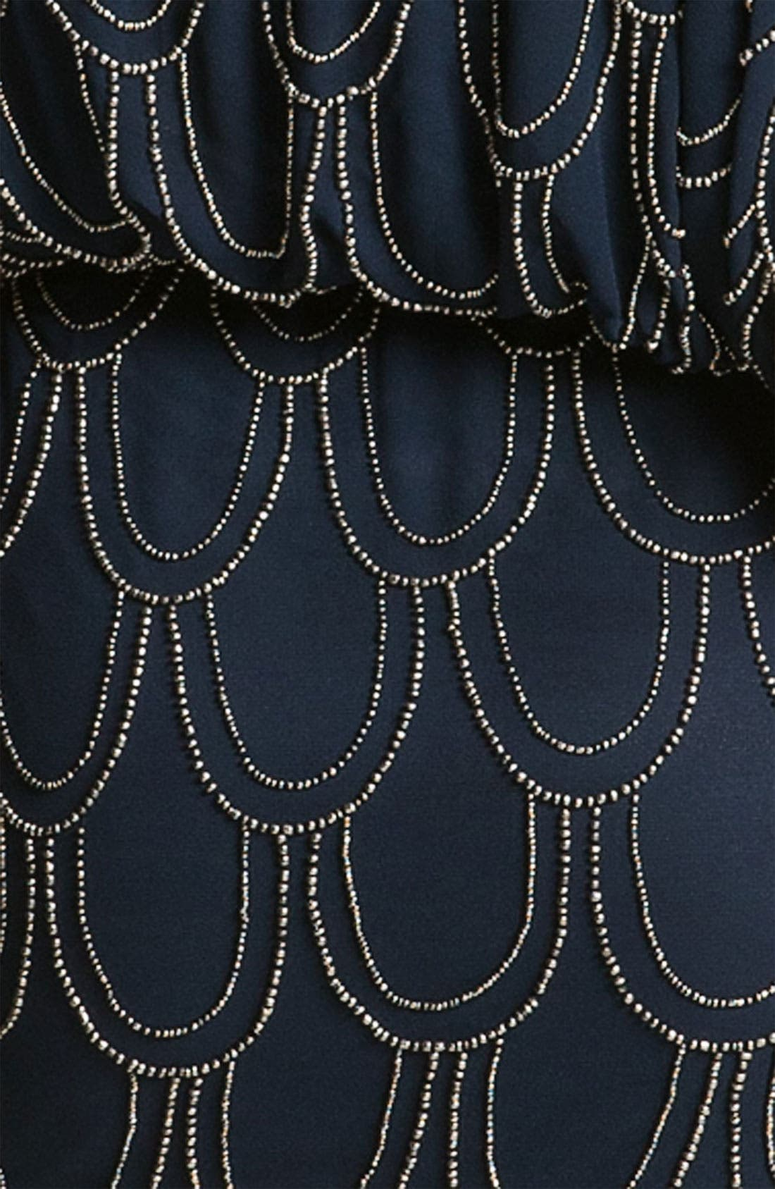 Alternate Image 3  - JS Collections Beaded Chiffon Blouson Dress