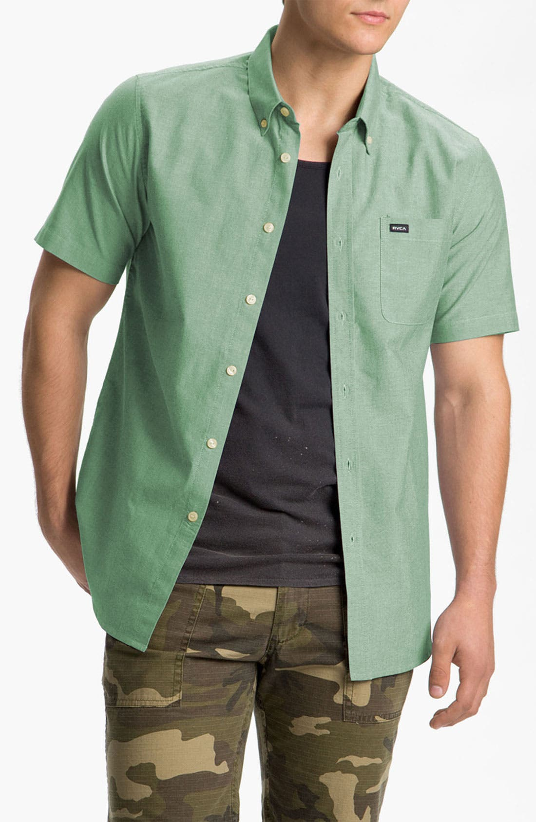 Alternate Image 1 Selected - RVCA 'That'll Do' Oxford Woven Shirt