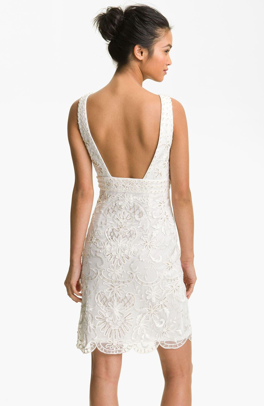Alternate Image 2  - Sue Wong Embellished Open Back Sheath Dress