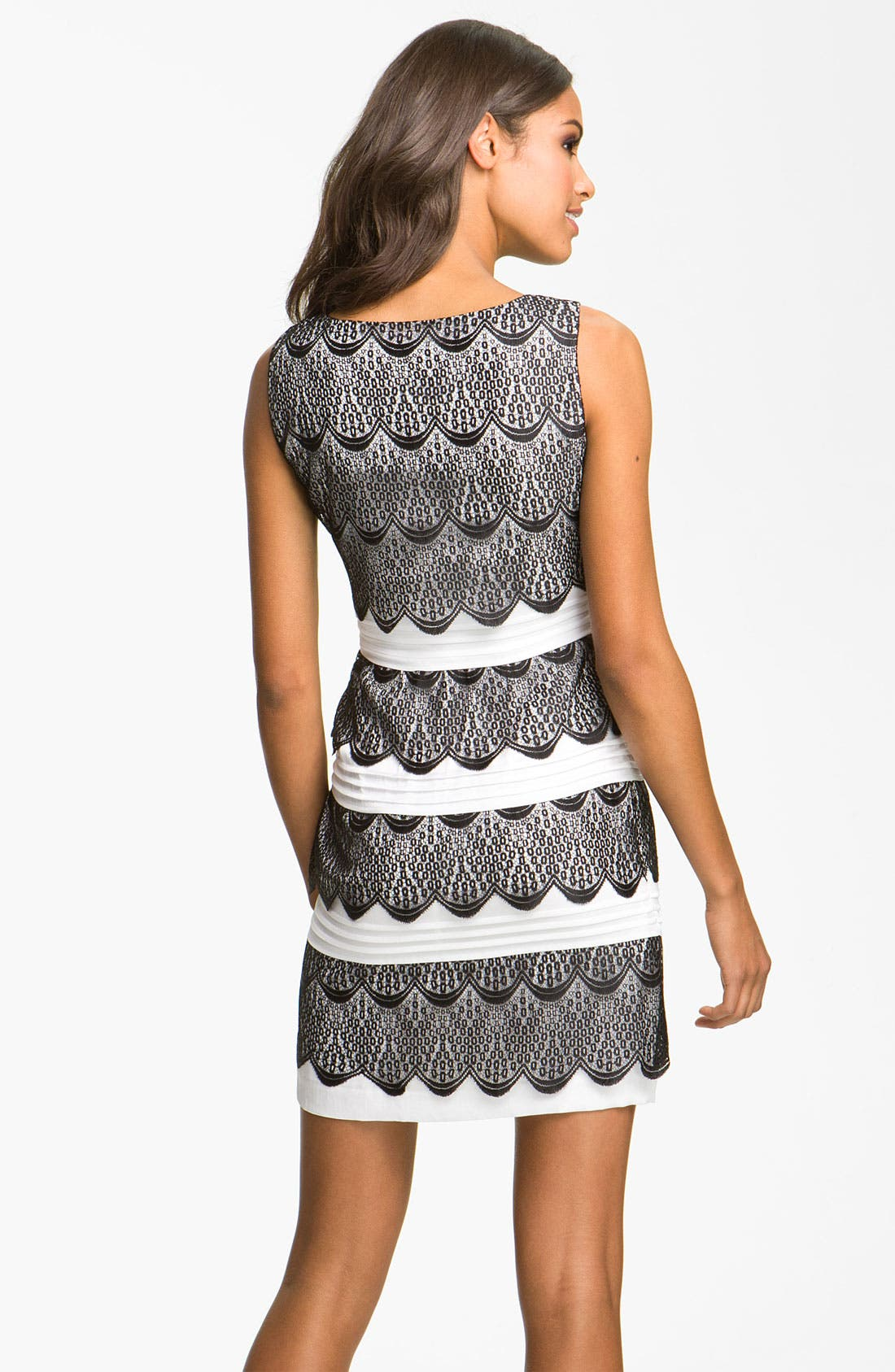Alternate Image 2  - BCBGMAXAZRIA Tiered Lace Cocktail Dress