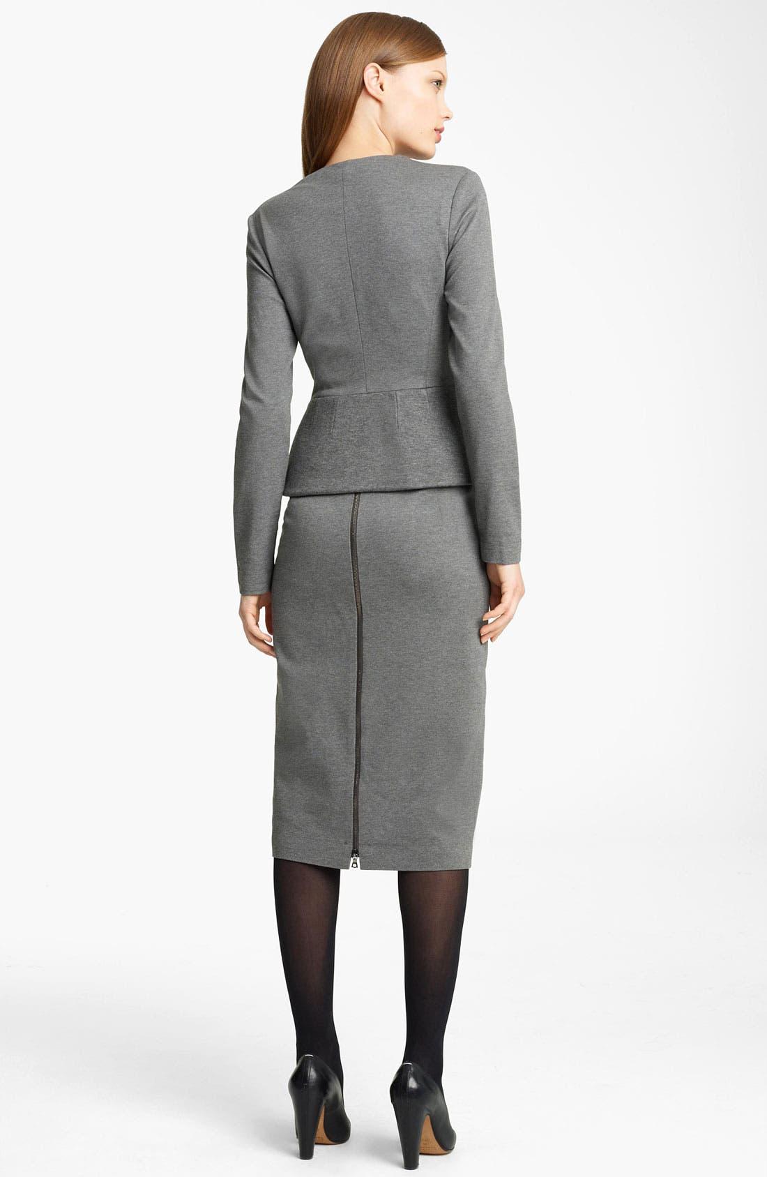 Alternate Image 5  - Lida Baday Bonded Jersey Jacket