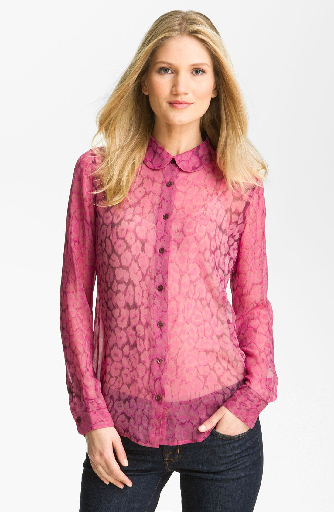 Alternate Image 1 Selected - Equipment 'Sophie' Print Silk Blouse